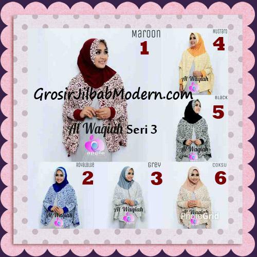Jilbab Tangan Syar'i Al Waqiah Seri 3 Original by Apple Hijab Brand Series