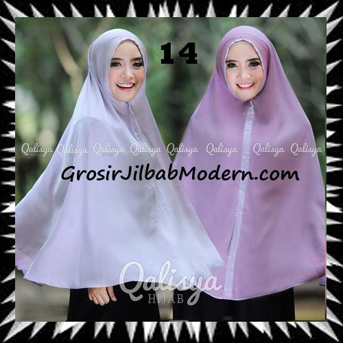 Jilbab Basic Khimar Bolak Balik Cantik Original By Qalisya No 14