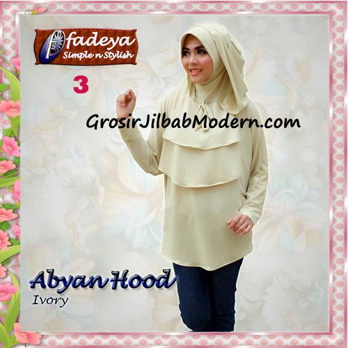 Jilbab Bergo Lengan Modis Abyan Hoodie Original by Fadeya No 3 Ivory