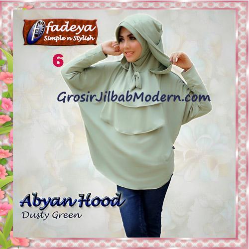 Jilbab Bergo Lengan Modis Abyan Hoodie Original by Fadeya No 6 Dusty Green