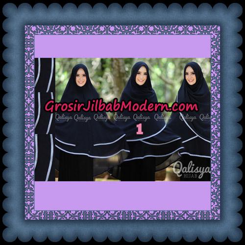 Jilbab Cerutti Jumbo Khimar Syar'i Taqiya Pet Ukuran XXL Seri 2 Original By Qalisya Brand No 1 Hitam