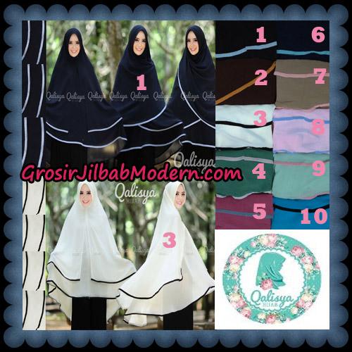 Jilbab Cerutti Jumbo Khimar Syar'i Taqiya Pet Ukuran XXL Seri 2 Original By Qalisya Brand Series