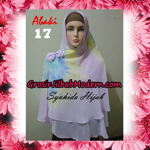 Jilbab Cerutti Tiedye Jumbo Terbaru Khimar Abaky Original By Syahida Brand No 17