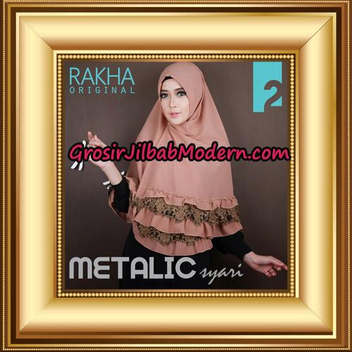 Jilbab Instant Syar'i Metalic Cantik Original by Rakha Brand No 2
