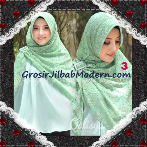 Jilbab Khimar Syar'i Cantik Halwa Brukat Seri 3 Original By Qalisya Brand No 3