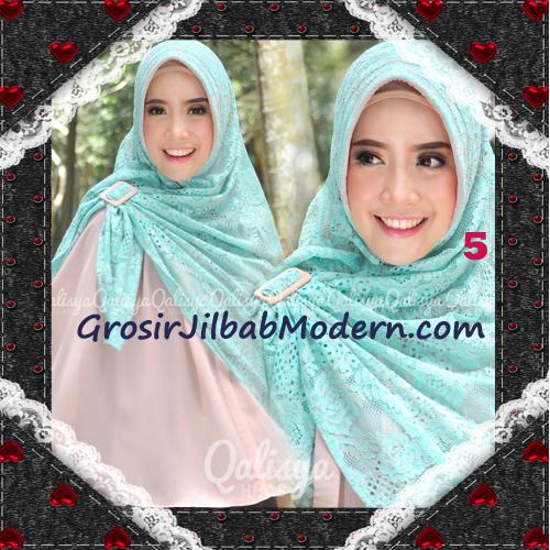 Jilbab Khimar Syar'i Cantik Halwa Brukat Seri 3 Original By Qalisya Brand No 5