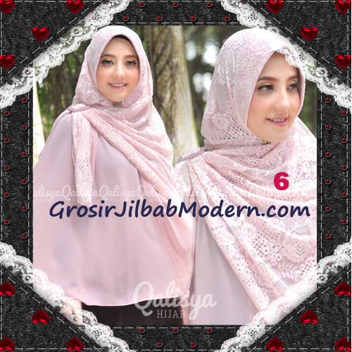 Jilbab Khimar Syar'i Cantik Halwa Brukat Seri 3 Original By Qalisya Brand No 6
