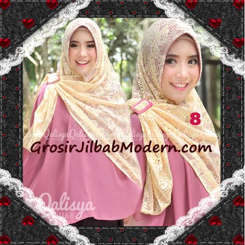 Jilbab Khimar Syar'i Cantik Halwa Brukat Seri 3 Original By Qalisya Brand No 8