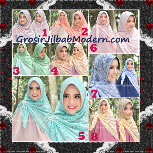 Jilbab Khimar Syar'i Cantik Halwa Brukat Seri 3 Original By Qalisya Brand Series