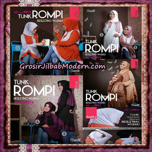 Jilbab Lengan Tunik Rompi Resleting Wudhu Original By Al-Mi'a Brand Series