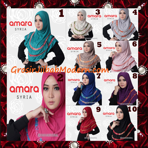 Jilbab Modern Cantik Syria Amara Original By Rakha Brand Series