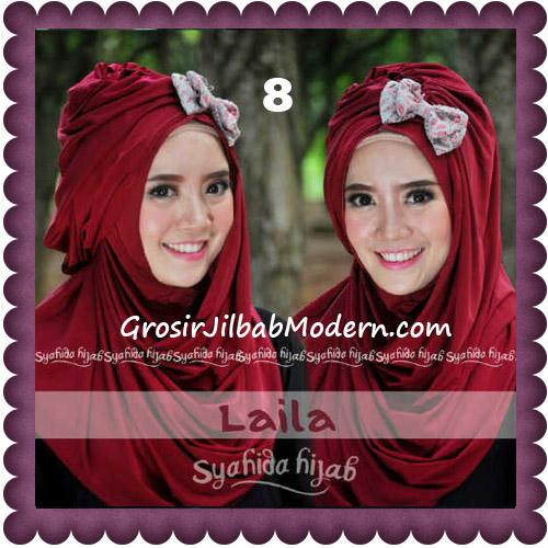 Jilbab Modern Pashmina Instan Laila Cantik Original by Syahida No 8