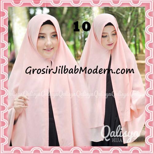 Jilbab Pashmina Khimar Lipit Cantik Original Qalisya Brand No 10 Baby Peach