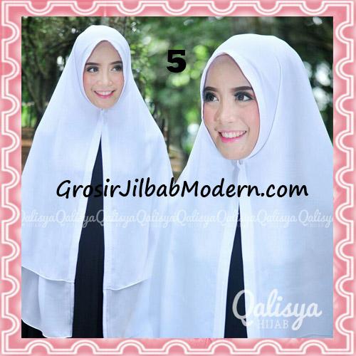Jilbab Pashmina Khimar Lipit Cantik Original Qalisya Brand No 5 Putih