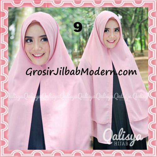 Jilbab Pashmina Khimar Lipit Cantik Original Qalisya Brand No 9 Dusty Pink