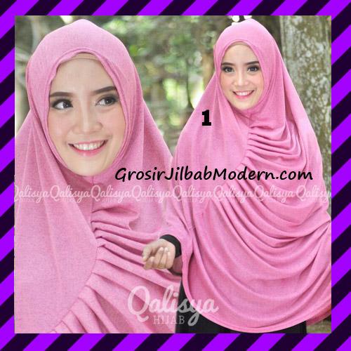 Jilbab Syar'i Khimar Rafa Non Pet Jacquard Original Qalisya Brand No 1