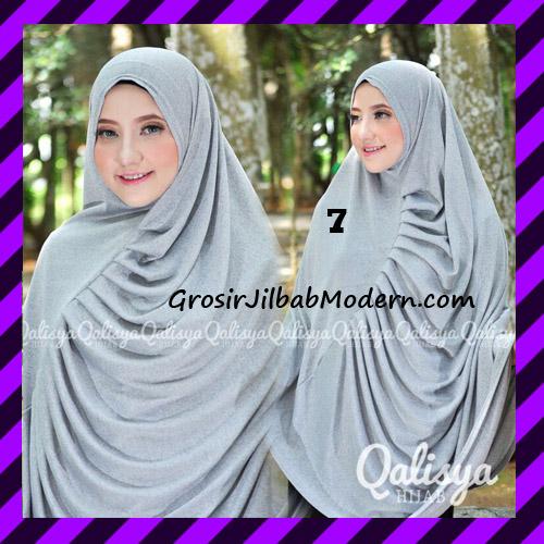 Jilbab Syar'i Khimar Rafa Non Pet Jacquard Original Qalisya Brand No 7