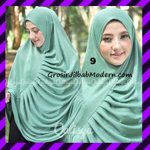 Jilbab Syar'i Khimar Rafa Non Pet Jacquard Original Qalisya Brand No 9