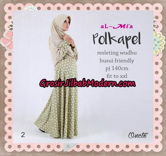 Gamis Jilbab Instant Terbaru Polkapel Original By Almia ( Al-Mi'a Brand ) No 2