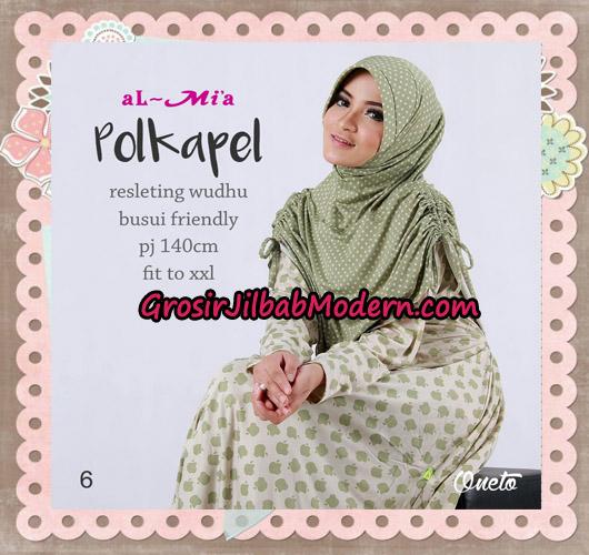 Gamis Jilbab Instant Terbaru Polkapel Original By Almia ( Al-Mi'a Brand ) No 6