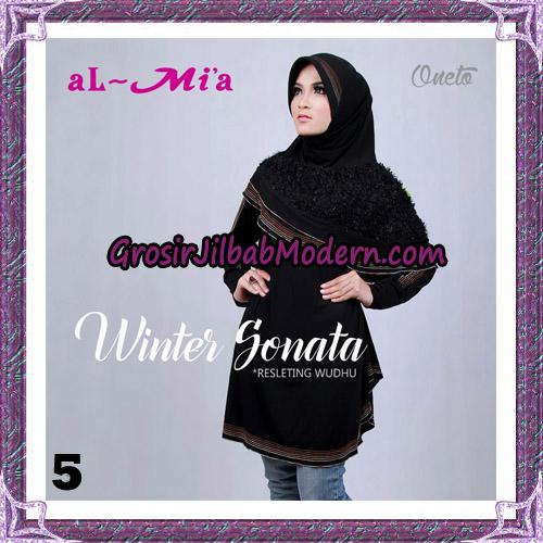 Jilbab Bergo Lengan Instant Tunik Winter Sonata Original By Almia ( Al-Mi'a ) Brand No 5