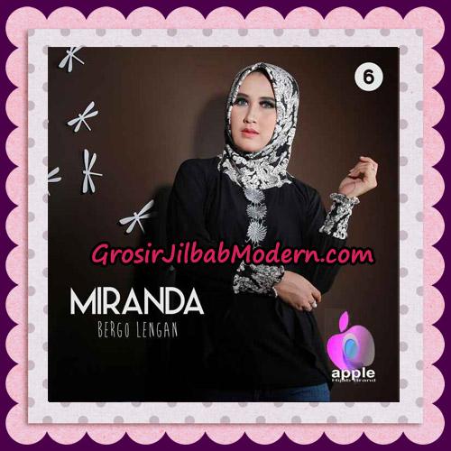 Jilbab Bergo Lengan Modis Premium Miranda Original By Apple Hijab Brand No 6