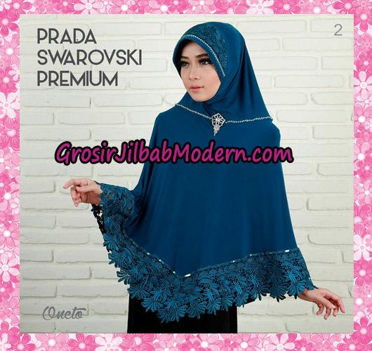 Jilbab Instant Bergo Prada Swarovski Premium Support By Oneto No 2