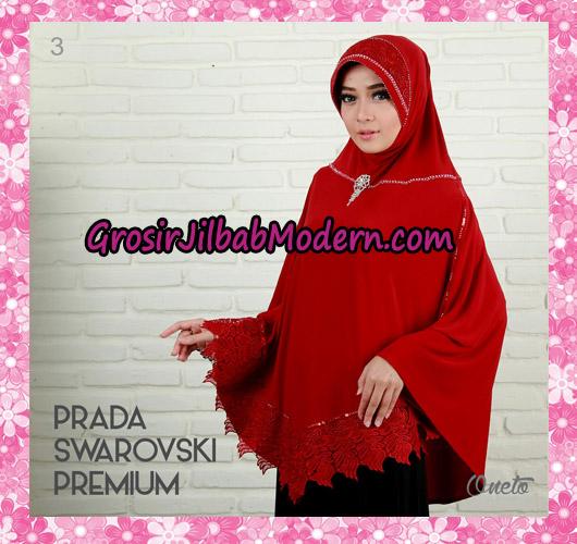 Jilbab Instant Bergo Prada Swarovski Premium Support By Oneto No 3