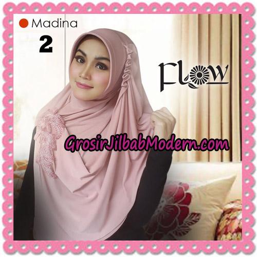Jilbab Instant Bergo Syria Madina Trendy Original By Flow Idea Brand No 2 Dusty Pink