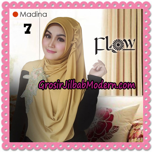 Jilbab Instant Bergo Syria Madina Trendy Original By Flow Idea Brand No 7 Kuning