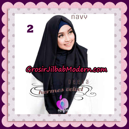 Jilbab Instant Deeja Hermes Velvet Modis Original By Apple Hijab Brand No 2 Navy