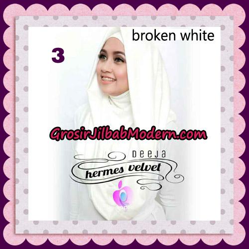Jilbab Instant Deeja Hermes Velvet Modis Original By Apple Hijab Brand No 3 Broken White