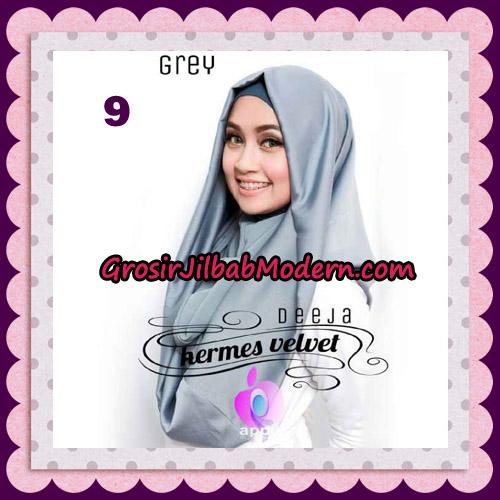 Jilbab Instant Deeja Hermes Velvet Modis Original By Apple Hijab Brand No 9 Grey