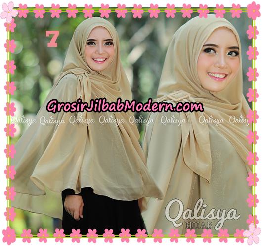 Jilbab Instant Khimar Syar'i Halwa Glitter Non Pet XL Seri 2 Trendy  Original By Qalisya Brand NO 7