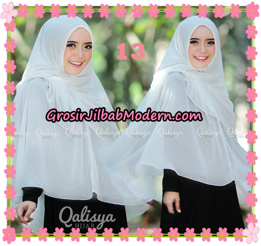 Jilbab Instant Khimar Syar'i Halwa Glitter Non Pet XL Seri 2 Trendy  Original By Qalisya Brand No 13