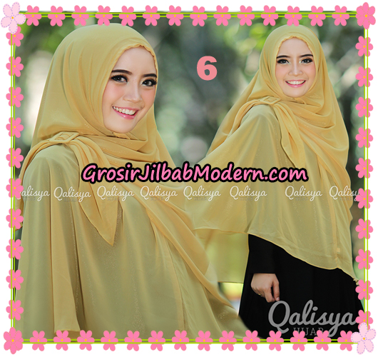Jilbab Instant Khimar Syar'i Halwa Glitter Non Pet XL Seri 2 Trendy  Original By Qalisya Brand No 6