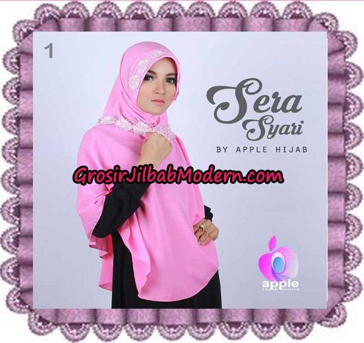 Jilbab Instant Sera Syar'i Cantik Original By Apple Hijab Brand No 1 Dusty Pink