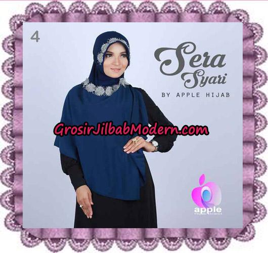Jilbab Instant Sera Syar'i Cantik Original By Apple Hijab Brand No 4 Navy
