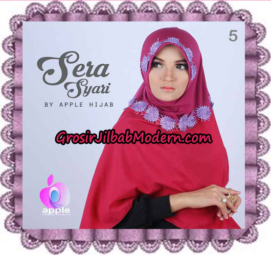 Jilbab Instant Sera Syar'i Cantik Original By Apple Hijab Brand No 5 Fushia
