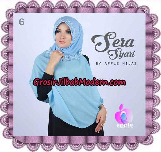 Jilbab Instant Sera Syar'i Cantik Original By Apple Hijab Brand No 6 Babe Blue