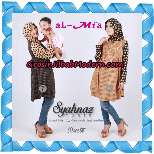 Jilbab Lengan Busui Friendly Tunik Syahnaz Original By Almia ( Al-Mi'a Brand ) No 7 & 8