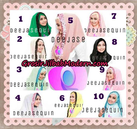 Jilbab Modern Instant Cantik Deeja Sequin Original By Apple Hijab Brand Series