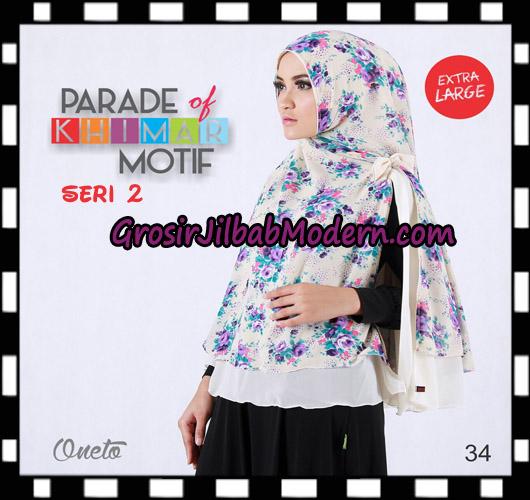 Jilbab Parade Of Khimar Motif Non Pet Seri 2 Support By Oneto Hijab No 34