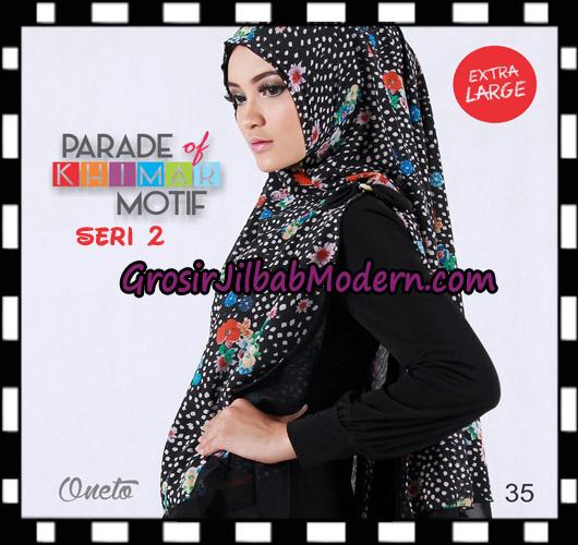 Jilbab Parade Of Khimar Motif Non Pet Seri 2 Support By Oneto Hijab No 35