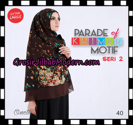 Jilbab Parade Of Khimar Motif Non Pet Seri 2 Support By Oneto Hijab No 40