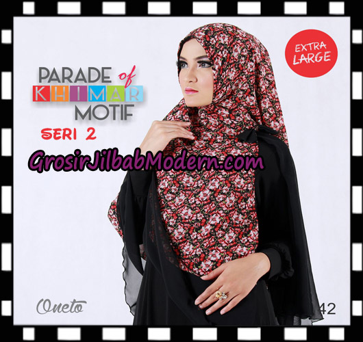 Jilbab Parade Of Khimar Motif Non Pet Seri 2 Support By Oneto Hijab No 42