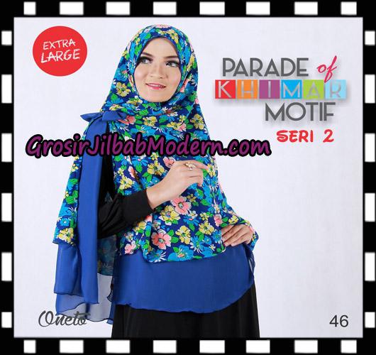 Jilbab Parade Of Khimar Motif Non Pet Seri 2 Support By Oneto Hijab No 46