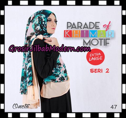 Jilbab Parade Of Khimar Motif Non Pet Seri 2 Support By Oneto Hijab No 47