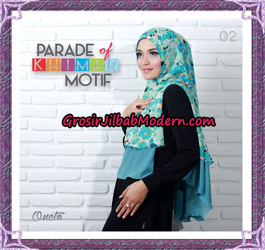 Jilbab Parade Of Khimar Motif Tanpa Pet Support By Oneto No 2