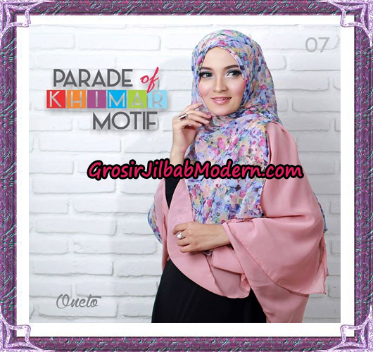 Jilbab Parade Of Khimar Motif Tanpa Pet Support By Oneto No 7